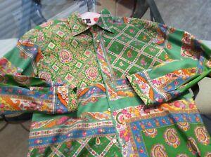 ETRO Rare Vintage  Men's Shirt Paisley Color Slim M Pattern Retails $499