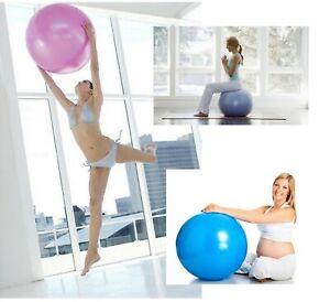 Yoga Fitness Thickened Ball Home Exercise Gym Pilates Balance No Pump Smooth Pvc