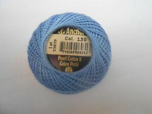 Paquete De 2 Ancla Perle 12 algodón bola color melocotón números 6 y 9