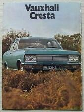 VAUXHALL CRESTA Car Sales Brochure For 1971 #V1982/9/70