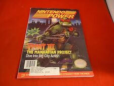 Nintendo Power Volume 33 Tmnt Iii Manhattan Cover w/ Attached Lemmings Poster