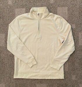 Mens Nike Dry Player Half Zip Golf Top Lemon Drop Size Medium CU9826-723
