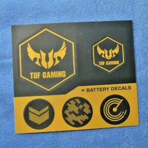 Genuine Original Asus TUF Gaming Stickers Black Gold Battery Decals