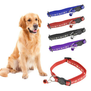 Luminous Printed Cat Collar Stars and Moon Pet Collars with Bell Adjustable