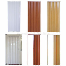 Plastic Folding Door PVC Gloss Washable Doors Sliding Panel Divider 6/12mm