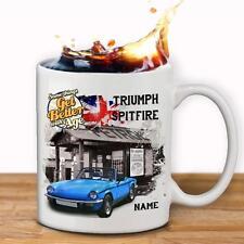 Personalised Triumph Spitfire Classic Car Mug Cup Dad Custom Gift - Add a Name
