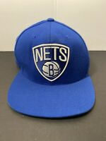 NBA Brooklyn NETS Mitchell & Ness Snapback Cap Hat Nostalgia Co. Blue