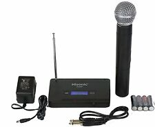 Hisonic HS380H VHF Wireless Handheld Microphone System Portable Battery Powered