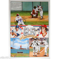 BUCKY DENT MIKE TORREZ DUAL SIGNED 1978 FENWAY PARK NY YANKEES RED SOX PLAYOFF