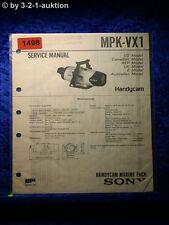 Sony Service Manual MPK VX1 Handycam Marine Pack (#1498)