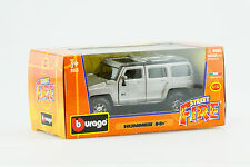 Burago 1:32 Hummer H3 Silver toy truck - Case of 18, New in Box