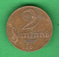 LATVIA LETTLAND 2 SANTIMI 1932 COIN 20