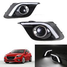 2x LED DRL Universal White Daytime Running Lights For Mazda 3 Axela 2014-16