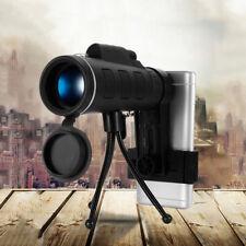 40x60 Cámara monóculo zoom óptico Lente Telescopio Trípode Clip de móvil HD BAK4