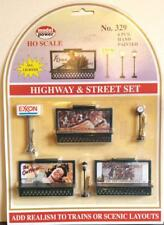 Model Power - Highway & Street Set - 329 - 6 Pieces, All Light Up! HO Gauge