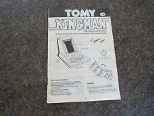 INSTRUCTION MANUAL MULTI LANGUAGE KINGMAN 100% ORIGINAL 1982 FOR TOMY GAME