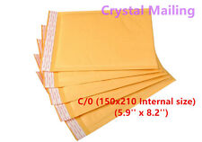 100 C/0 C0 Small Gold Padded, Bubble Lined Envelopes MAIL Cheap 150 x 210mm