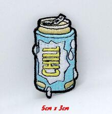 Refroidir Neuf Bière Peut Chill Brodé Repasser Patch à Coudre #1197