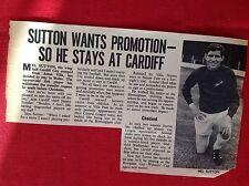 m2k article football Mel sutton Cardiff City football  item