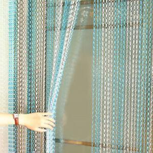 UK 214 x 90CM Metal Chain Insect Fly Door Curtain Screen Aluminium Pest Control