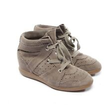 Isabel Marant Zapatillas High-Top Talla D 39 Gris Zapatos Mujer Betty Zapatos