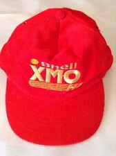 Shell XMO HI Red Corduroy Snapback Hat Vintage Rare