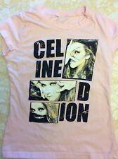 Celine Dion. Shirt Ladies Cut.  Pink. M.     Runs Small