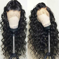 100% Pervian Virgin Remy Human Hair Wig 360 Lace Frontal Wigs Black Curly Wavy H
