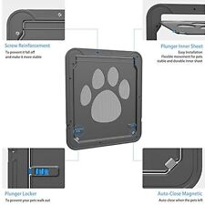 Magnetic Automatic Lock Dog Cat Pet Safe Flap Door Sliding Pet Screen Dog Door