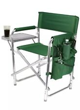 Folding Camping Chair with Storage Pockets Green Lightweight Comfort NEW IN BOX
