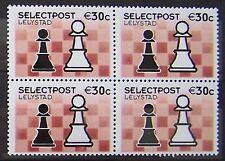 Stadspost Lelystad 2002 - Blok van 4 zegels Schaken, Chess Pionnen