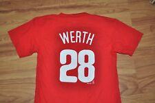 T-SHIRT M MEDIUM PHILADELPHIA PHILLIES BASEBALL CLUB JAYSON WERTH #28 SHIRT