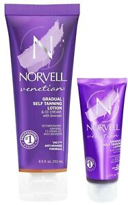 Norvell VENETIAN GRADUAL SELF Tanning Lotion & CC Cream with Bronzer 8.5 and 2.5