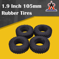 4Pcs AUSTAR 1.9 Inch 105mm Rubber Tires Tyre for 1/10 Traxxas SCX10 RC Crawler