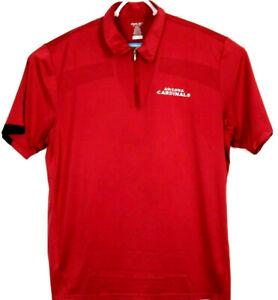 ARIZONA CARDINALS NFL Golf Polo Shirt by Reebok - red with black trim - size XL