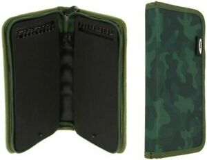 NGT CAMO GREEN STIFF RIG WALLET WITH PINS ZIP UP CASE CARP COARSE PIKE FISHING