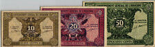 03 Indochina P89 - 91 Set 3 Pcs 10-50 Cents 1942