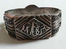 Ancien bracelet oriental en argent massif