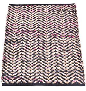 2x3 Ft Handmade Rugs Woven Mat Jute & Wool Rug Reversible Mat Multi Area Runner