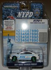 Greenlight 42821 2017 NYPD Dodge Charger 1:64 Scale w/Squad Decals RARE CHASE