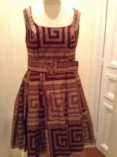 African Brown Dress Will fit size 12 to 14