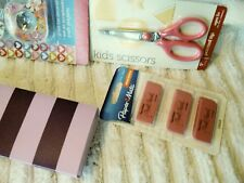 Girls School supplies lot  6  New erasers pens notepads   tapes etc.