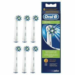 6 testine oral-b spazzolini di ricambio crossaction originali braun testina cros