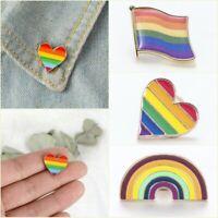 Chic Rainbow LGBT Gay Pride Peace Enamel Piercing Brooch Pin Badge Friend Gift