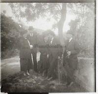 Snapshot Famille Francia Foto Placca Da Lente Stereo Vintage LD13