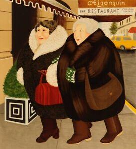 """Bar & Barbara"" Beryl Cook Silkscreen L/ E  Print"