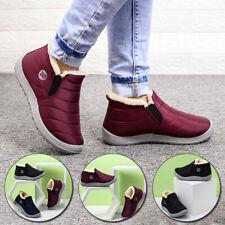 Зимние ботинки женские туфли теплый плюшевый мех лодыжки зимние женские водонепроницаемые повседневной одежды
