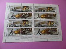 MH Marshall Islands * SC 278-81 WWII * Sinking of Bismarck * MNH * Sheet 16  W21