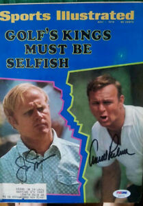 Autographed Arnold Palmer and Jack Nicklaus Sports Illustrated