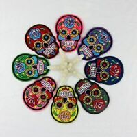 More Colors Flower Skull Skeleton Embroidery Iron On Patches Clothes